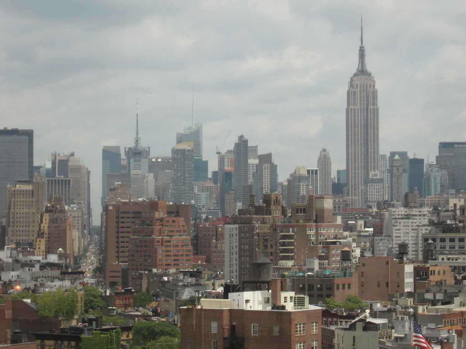View of downtown New York City from the Textual Research Room