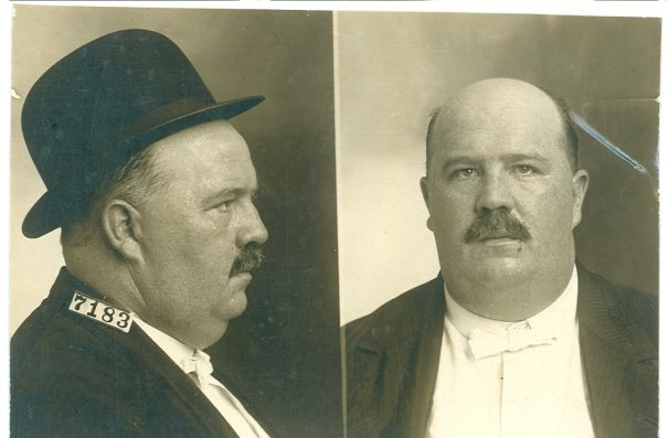 """Charles E. Billingsley, #7183. Billingsley was sentenced to seven years and five months for violating the National Banking Law in 1908. Mrs. Billingsley made every attempt to obtain a pardon for her husband by asking men of status to write to the warden of Leavenworth testifying to his character. Mr. John Thomas of the Code Commission of Oklahoma wrote, """"I am not personally acquainted with Mrs. Charles Billingsley, but her letter is a cry from the heart of the disconsolate wife-the sorrow oppressed mother-who, in her loneliness seeks to ameliorate the condition of her life's mate, now suffering the penalties denounced by law against those who violate its provisions."""" Billingsley served until 1913. RG 129, National Archives at Kansas City."""