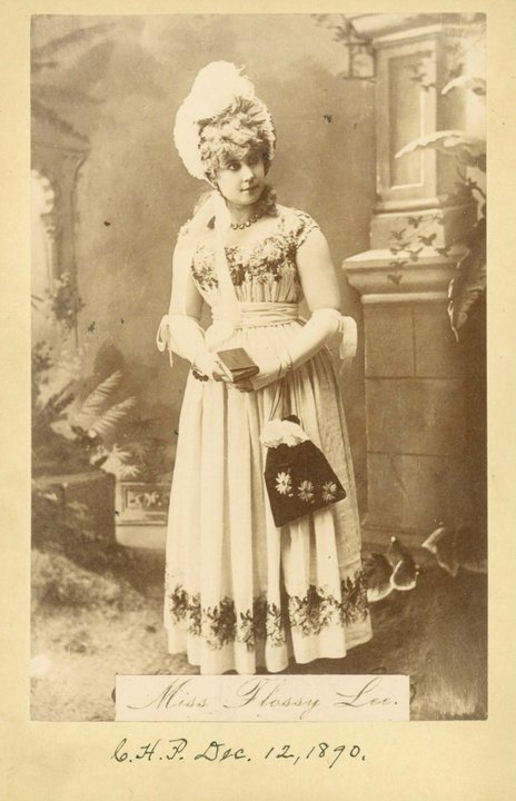 A full-length cabinet photo of Miss Flossy Lee, Record Group 118 Records of the US Marshall