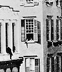 This image shows a close-up of the second story window (Courtesy the New York Times)