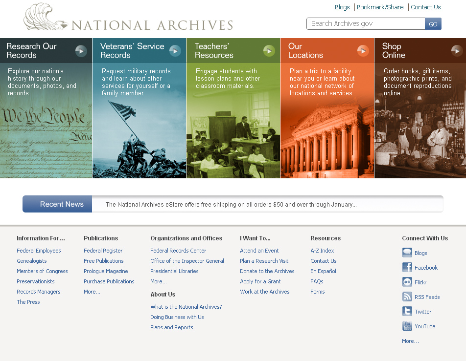 Our new archives.gov website