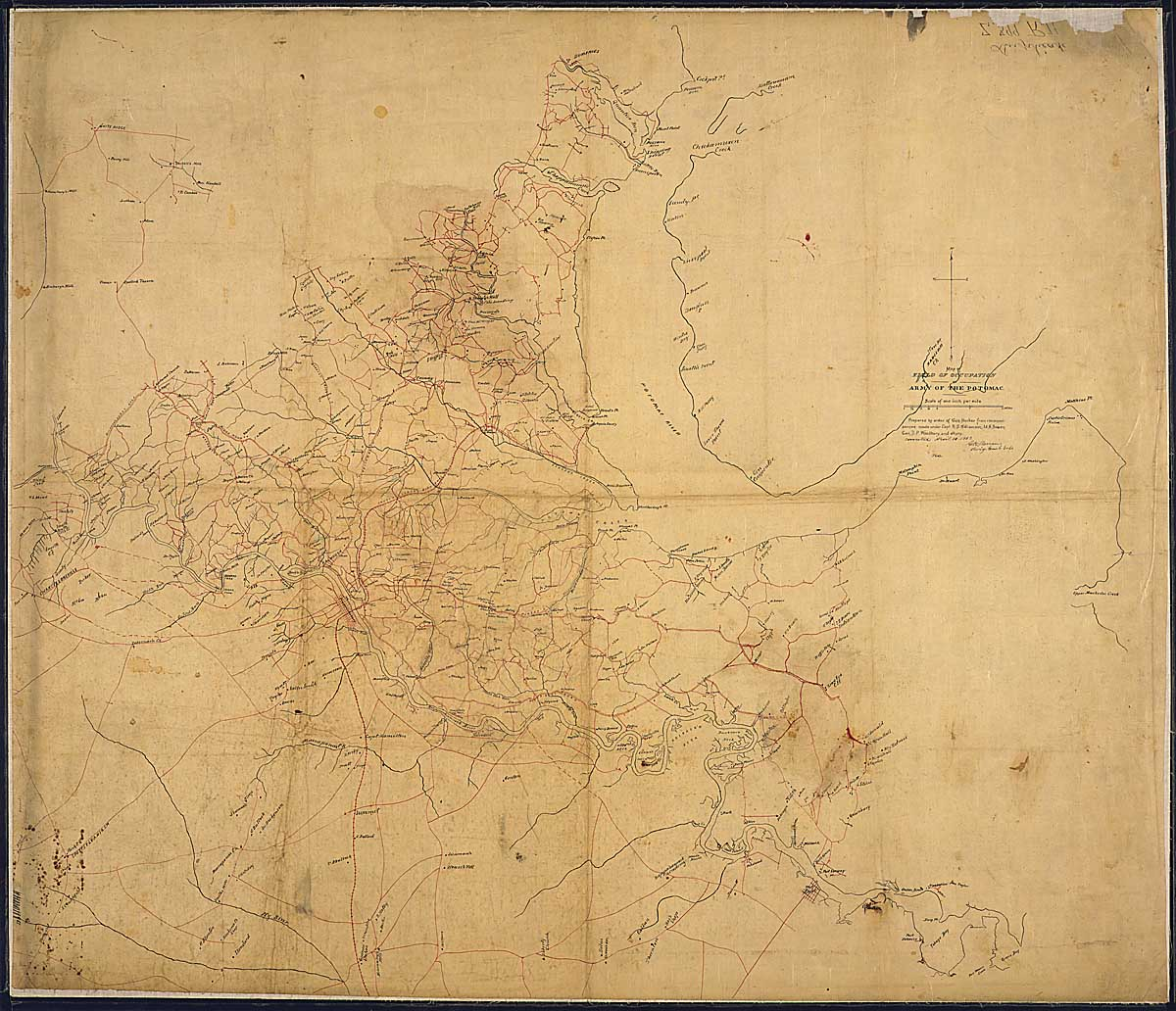 It's possible Dabney contributed details to this map, completed in the days before the Battle of Chancellorsville [Records of the Office of the Chief of Engineers, 77-CWMF-Z399(2)]