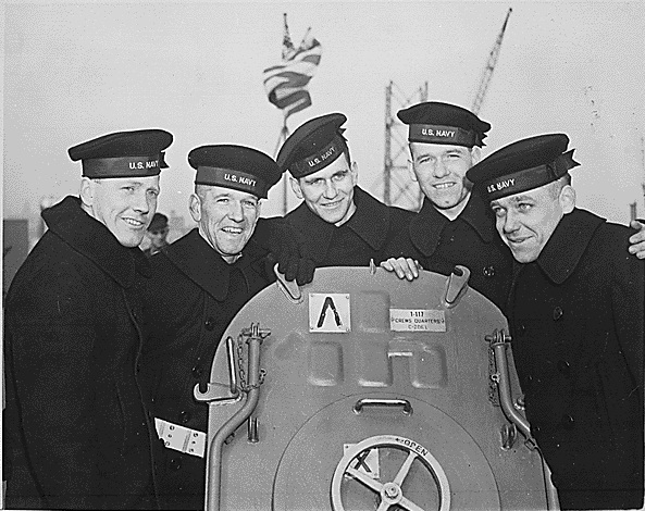 The five Sullivan brothers, who were all lost in the sinking of the USS Juneau (National Archives Identifier:     535944 )