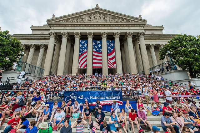 Fourth of July at the National Archives. (Photo by Chuck Fazio)