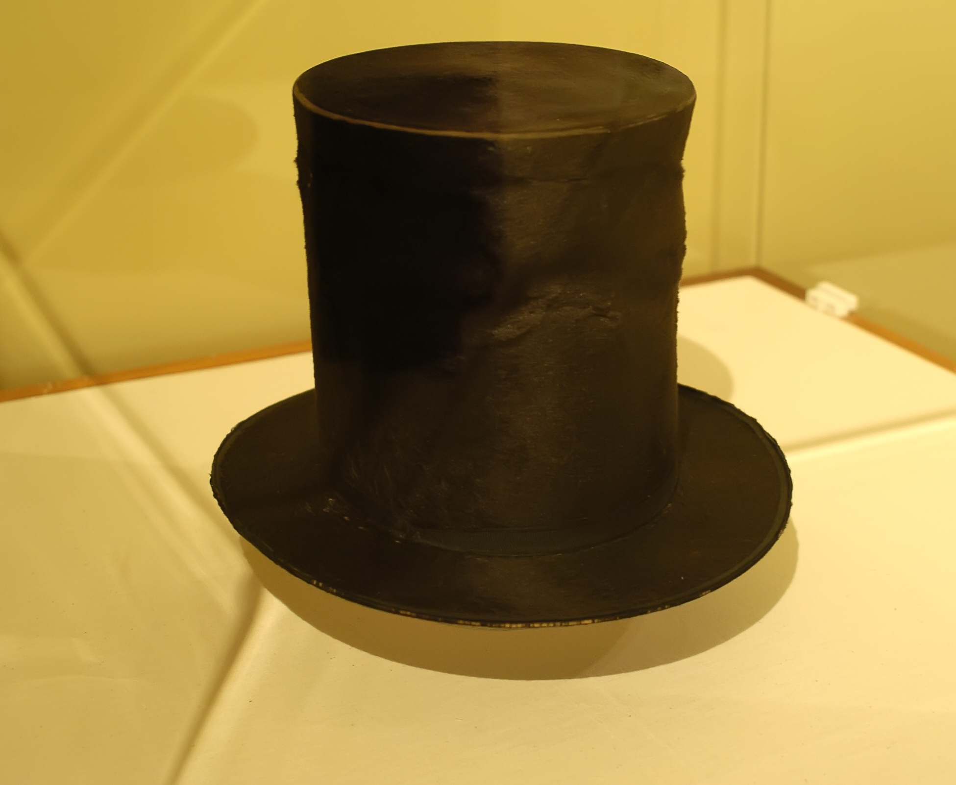 President Abraham Lincoln's stovepipe hat will be on display at the Lyndon B. Johnson Presidential Library through the month of April. Photo credit: Hildene, The Lincoln Family Home, Manchester, Vermont.