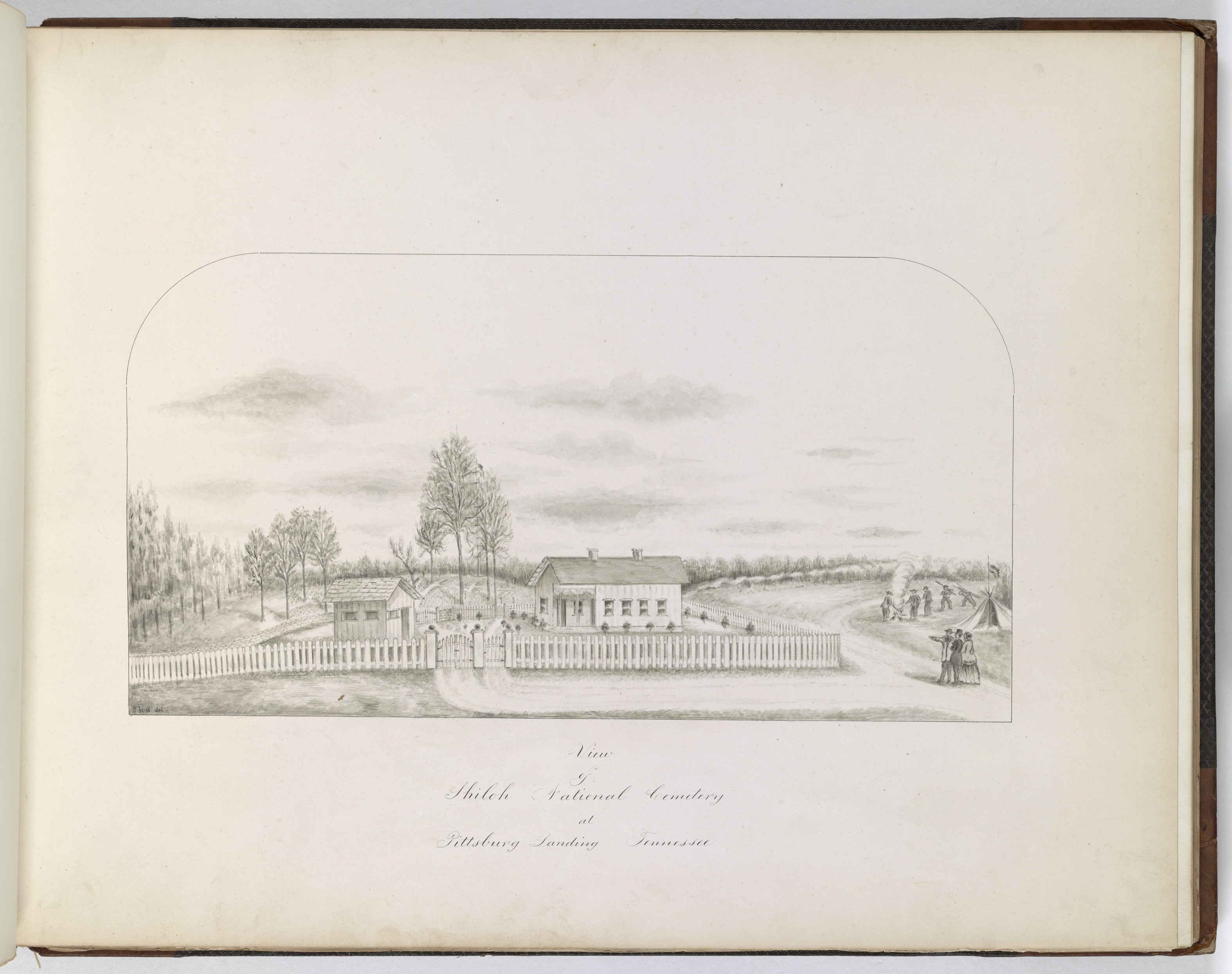 Drawing of Shiloh Cemetery from Whitman's Report on Cemeteries. National Archives, Records of the Office of the Quartermaster General