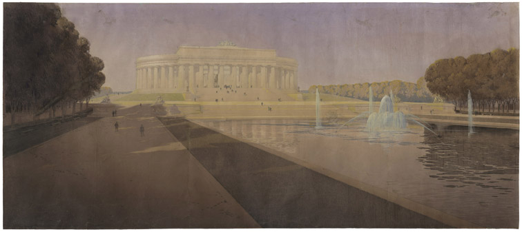 John Russell Pope's Competition Proposal for a Monument to Abraham Lincoln, 1912. (National Archives Identifier 2581315)