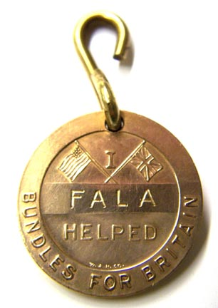 Fala's Barkers for Britain Tag. (Roosevelt Library)