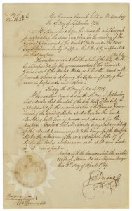 New York City's Common Council resolution granting the use of the City Hall to the new Congress, 9/17/1788. (Records of the U.S. Senate, National Archives)
