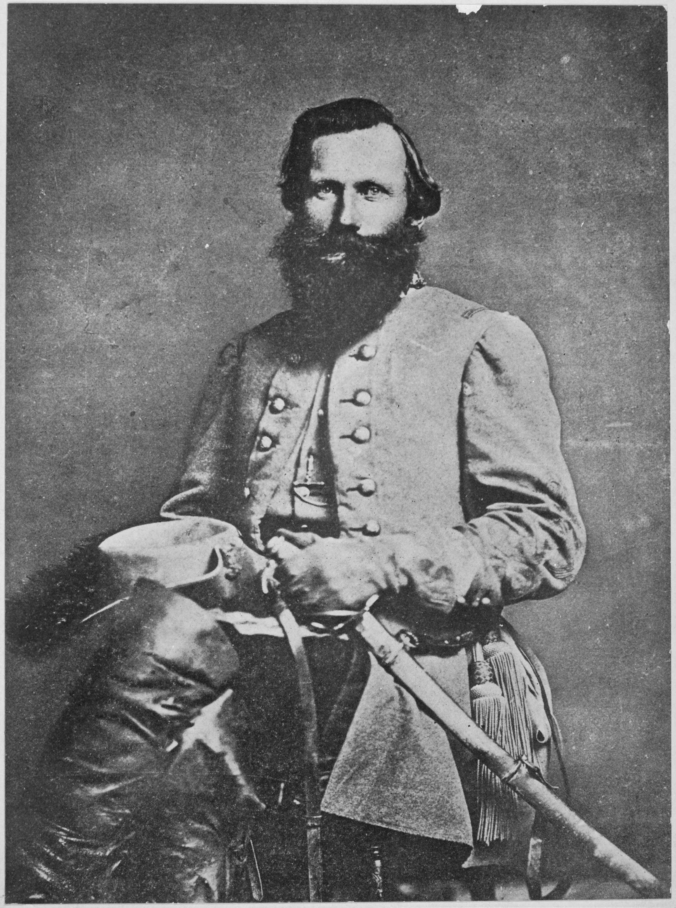 """General """"Jeb"""" Stuart, Confederate States of America, 1863. (National Archives Identifier 518135)"""