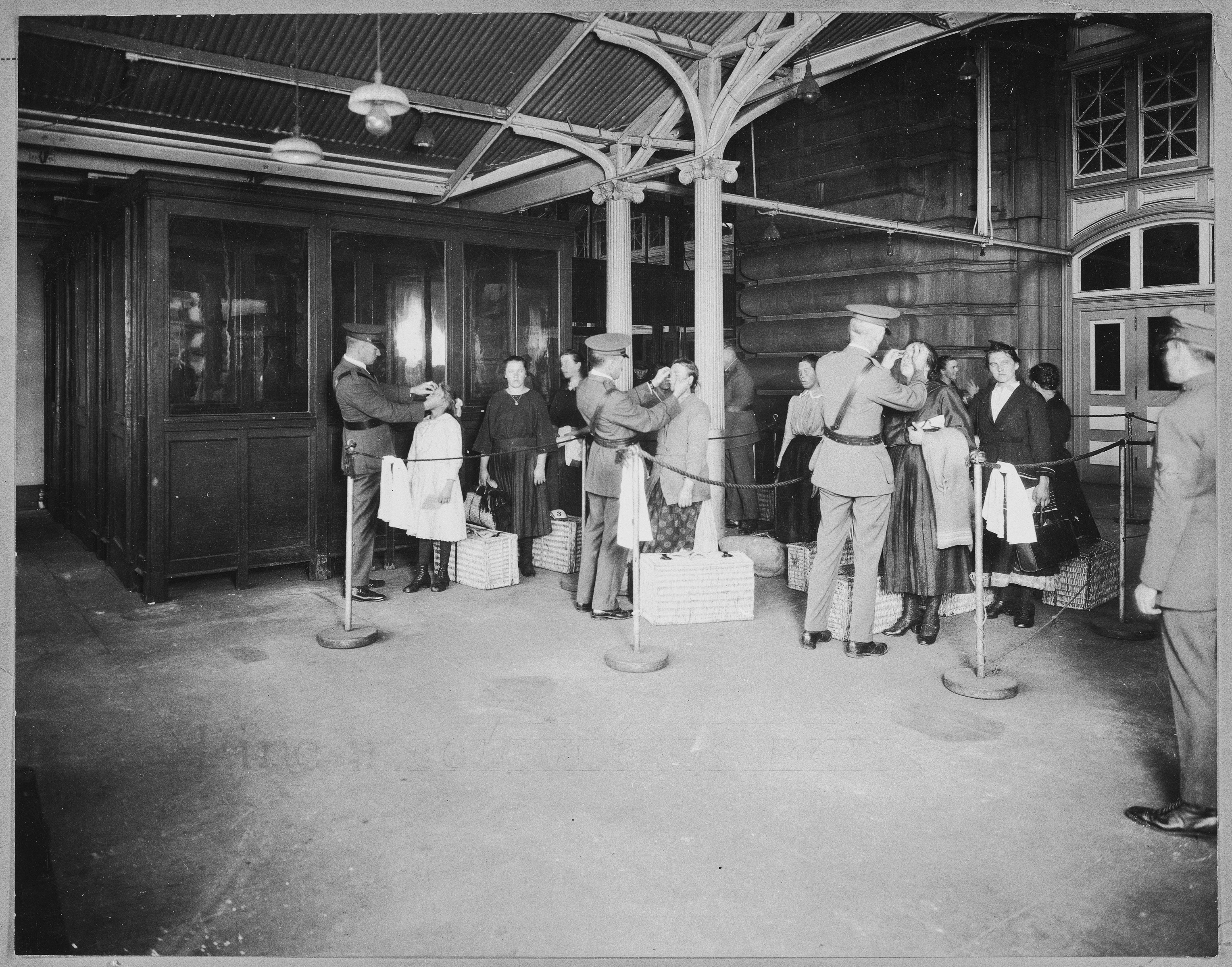 Ellis Island, N.Y. Line Inspection of Arriving Aliens, 1923 (National Archives Identifier 6116683)