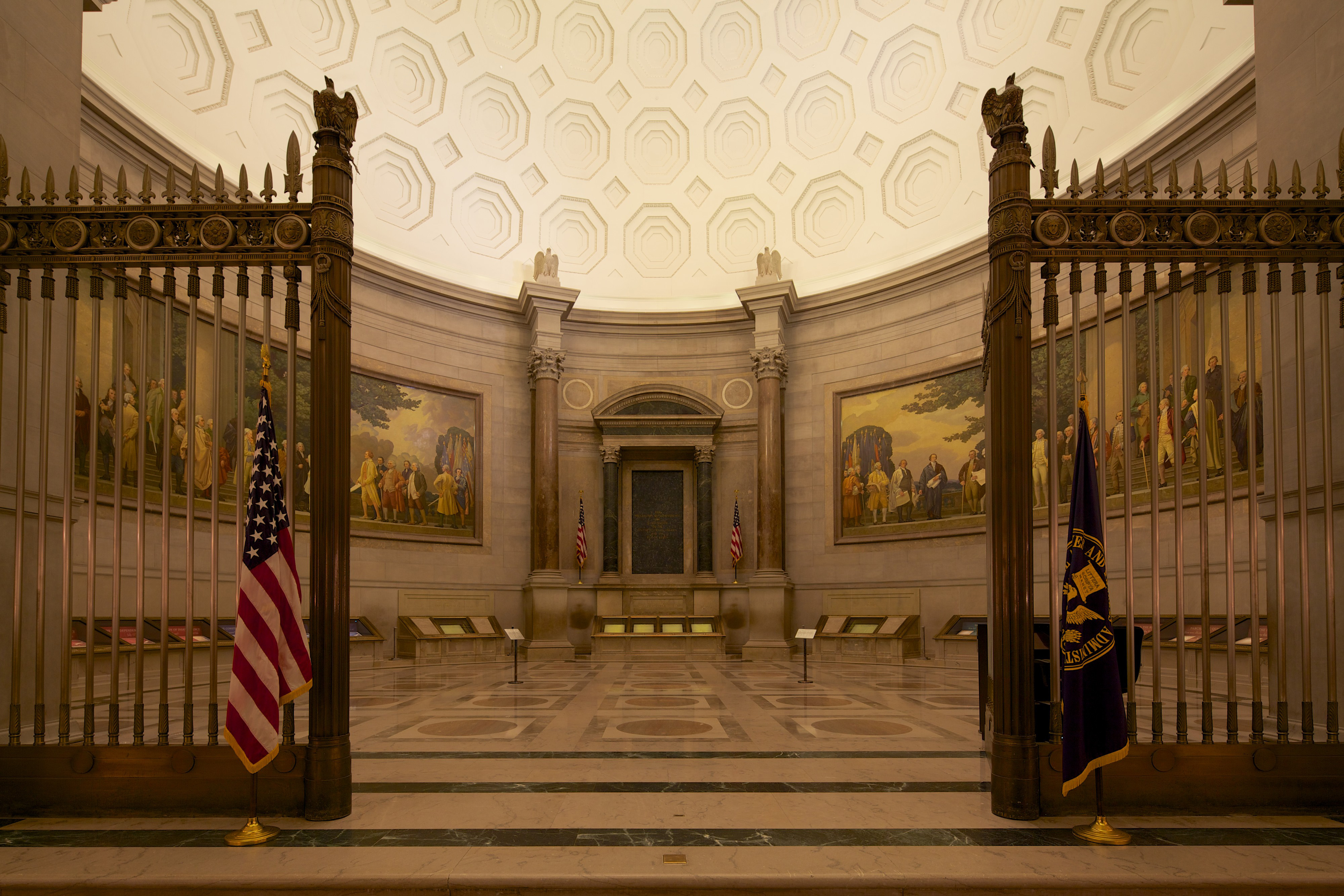 Rotunda for the Charters of Freedom, 2014. <br> (Photo by Jeff Reed)