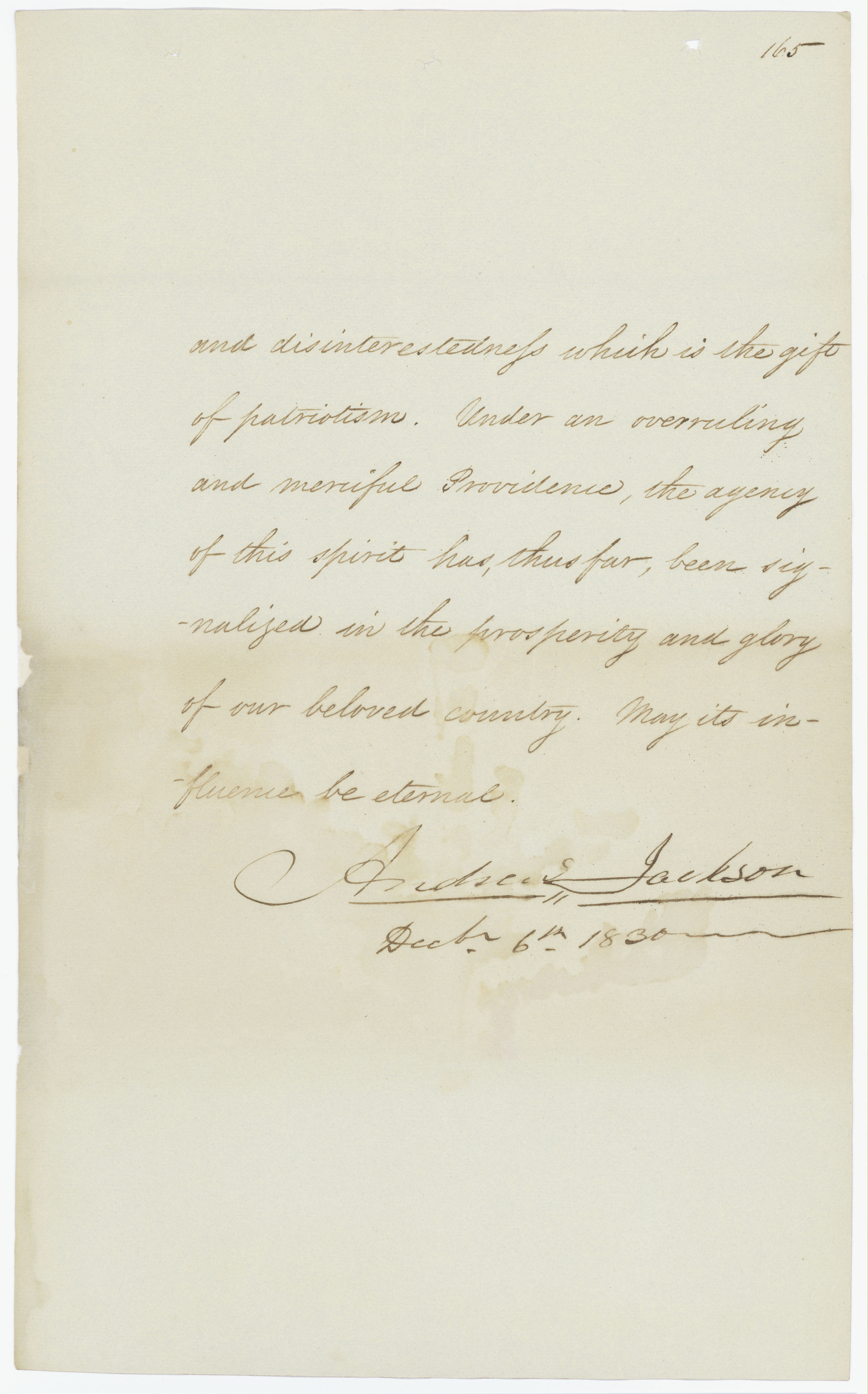 """President Andrew Jackson's Annual Message to Congress """"On Indian Removal,"""" December 6, 1830. (National Archives Identifier 5682743)"""