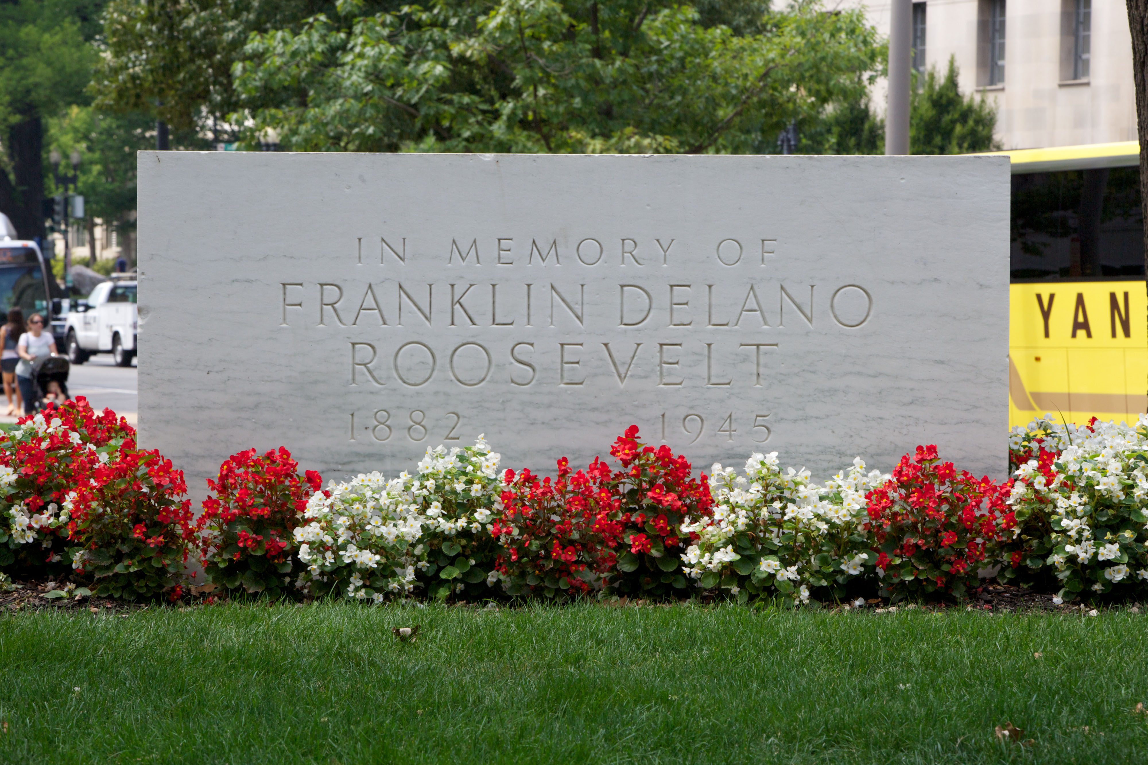 FDR Memorial, August 6, 2014. (Photo by Jeff Reed, National Archives)