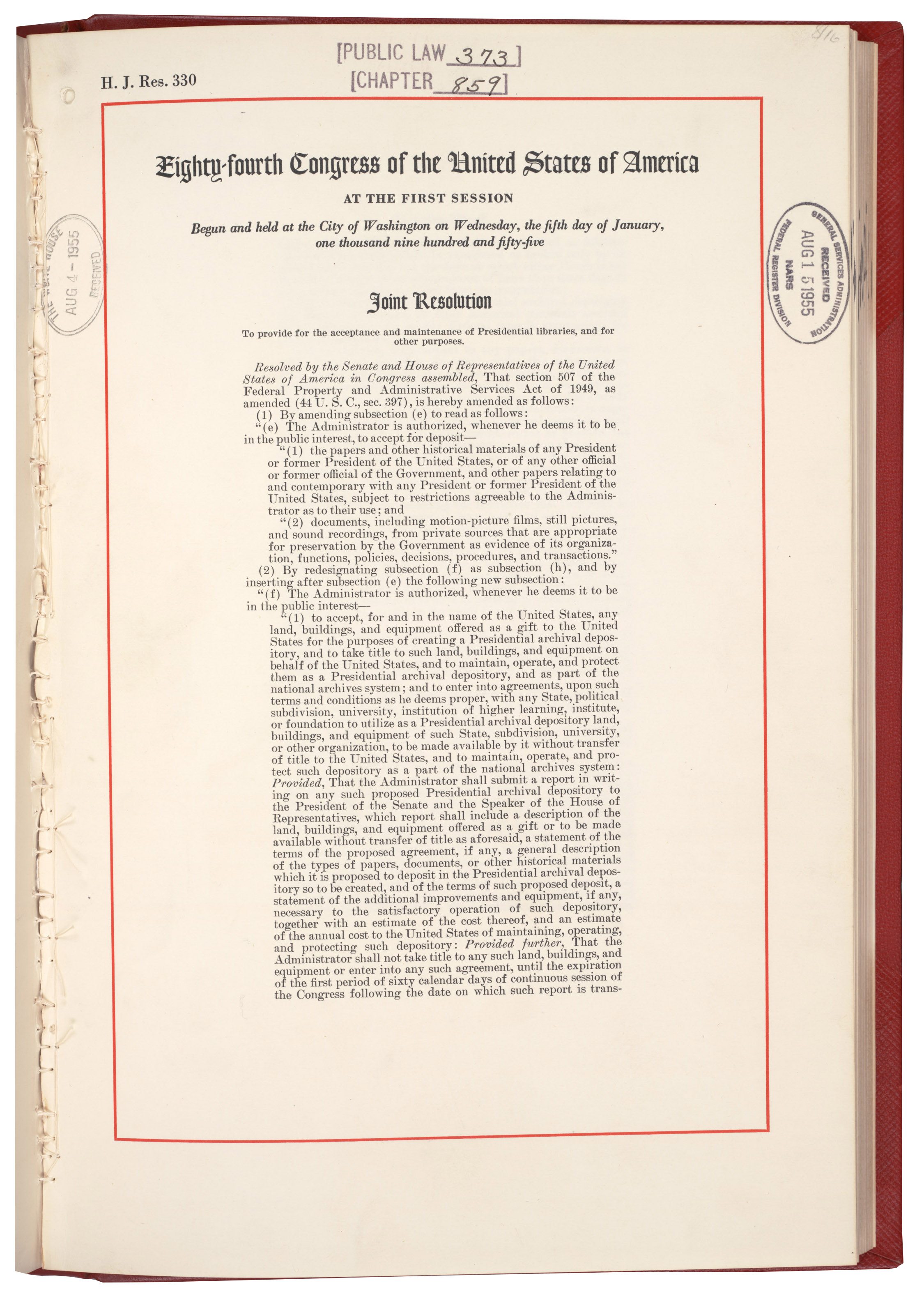 Rediscovery #: 13161Job A1 09-101 Presidential Libraries and Records