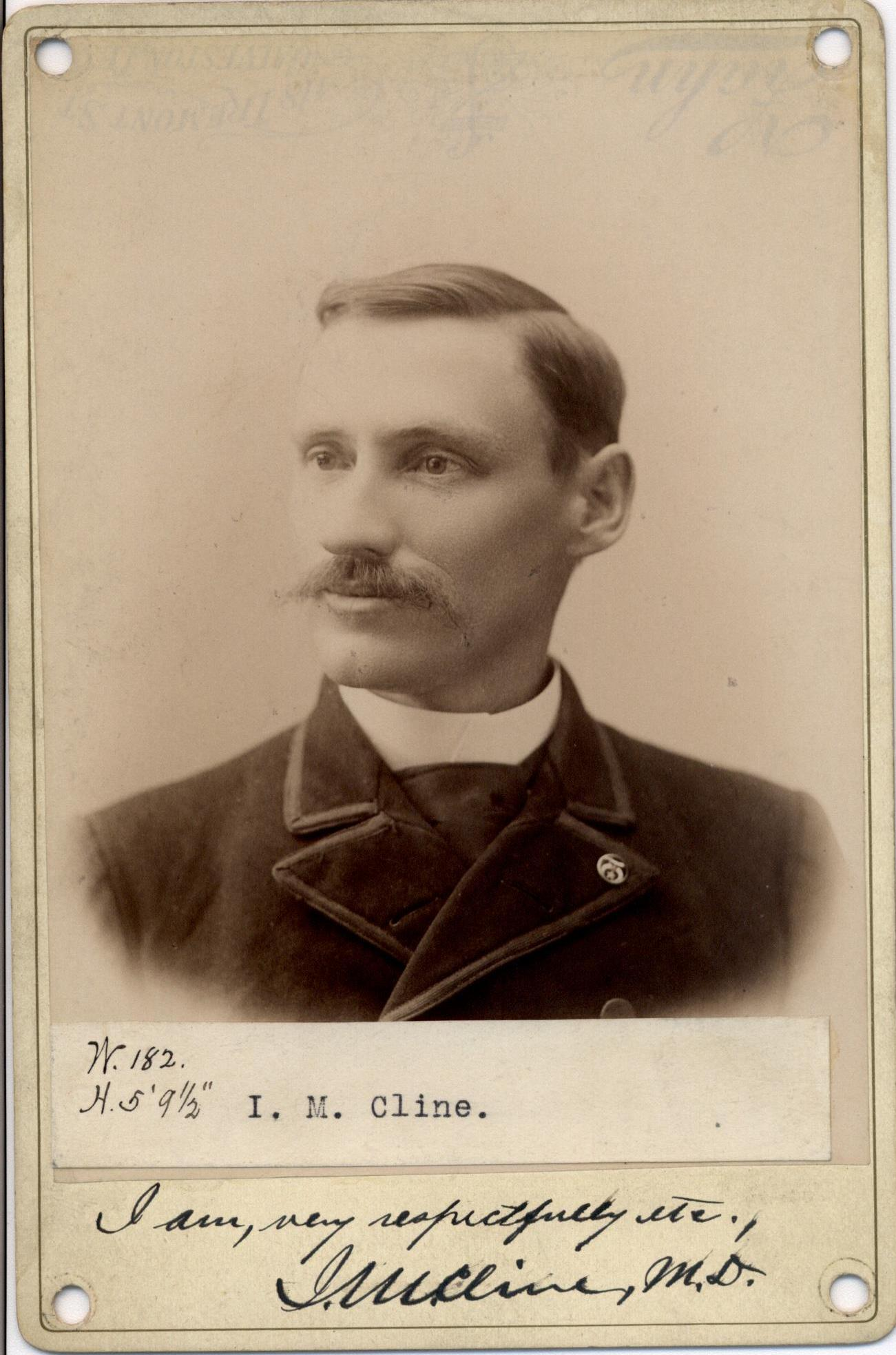 Photograph of Isaac Cline. (National Archives at St. Louis)