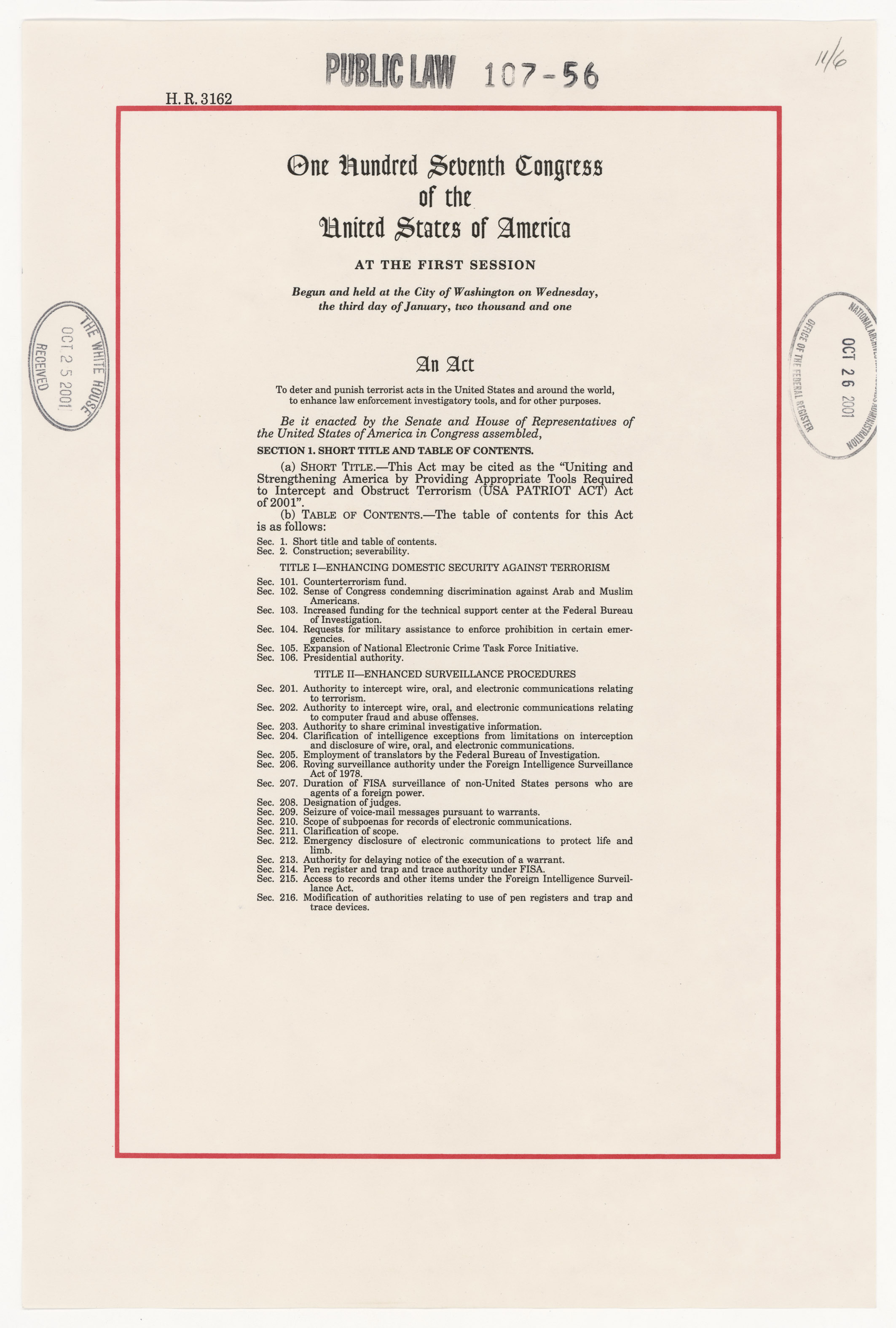 Rediscovery #: 19417Job A1 09-052 NATF order