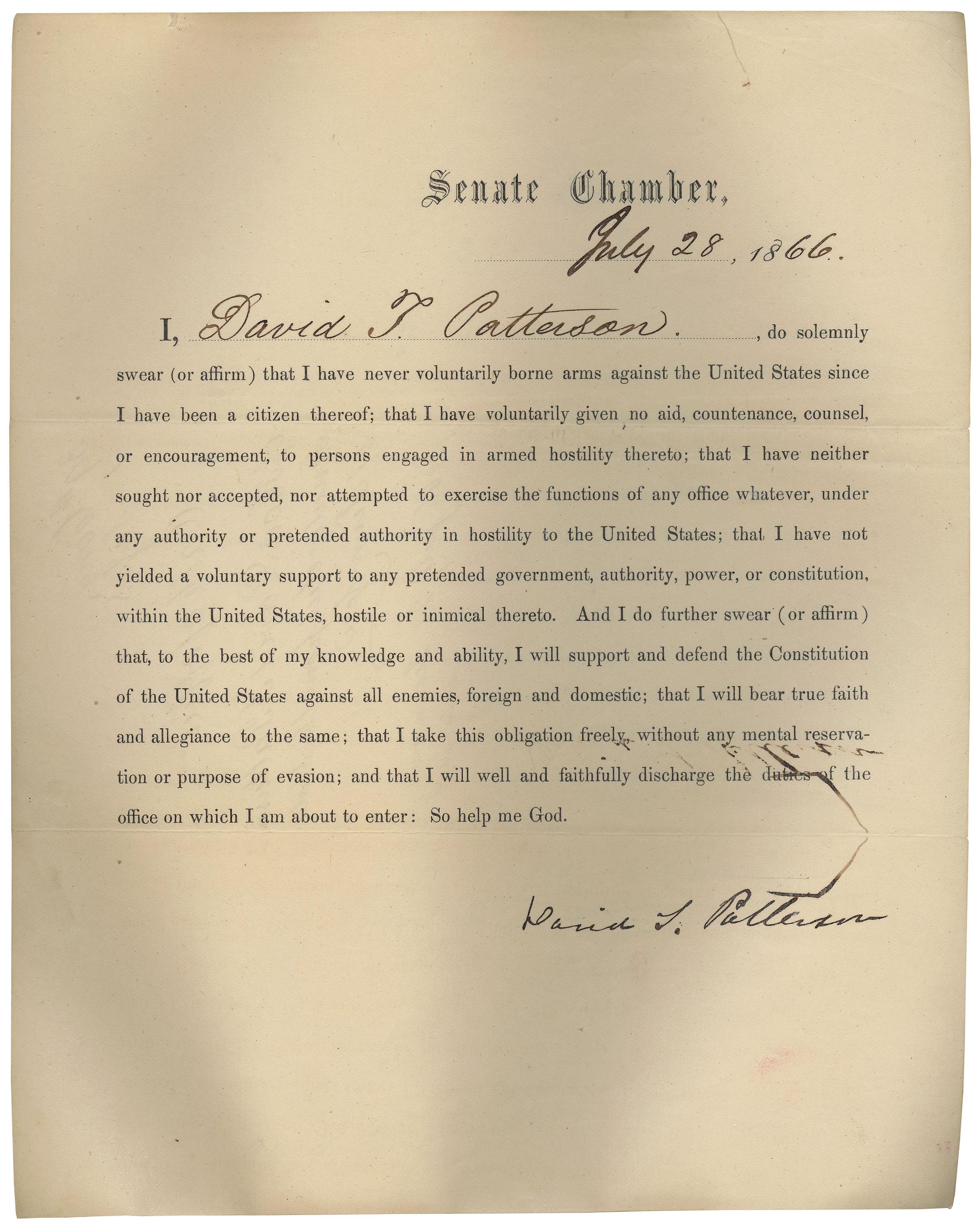 David_Patterson_oath_of_office_7-28-1866