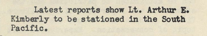 Arthur Kimberly In South Pacific - Archiviews, May 1943, p. 3