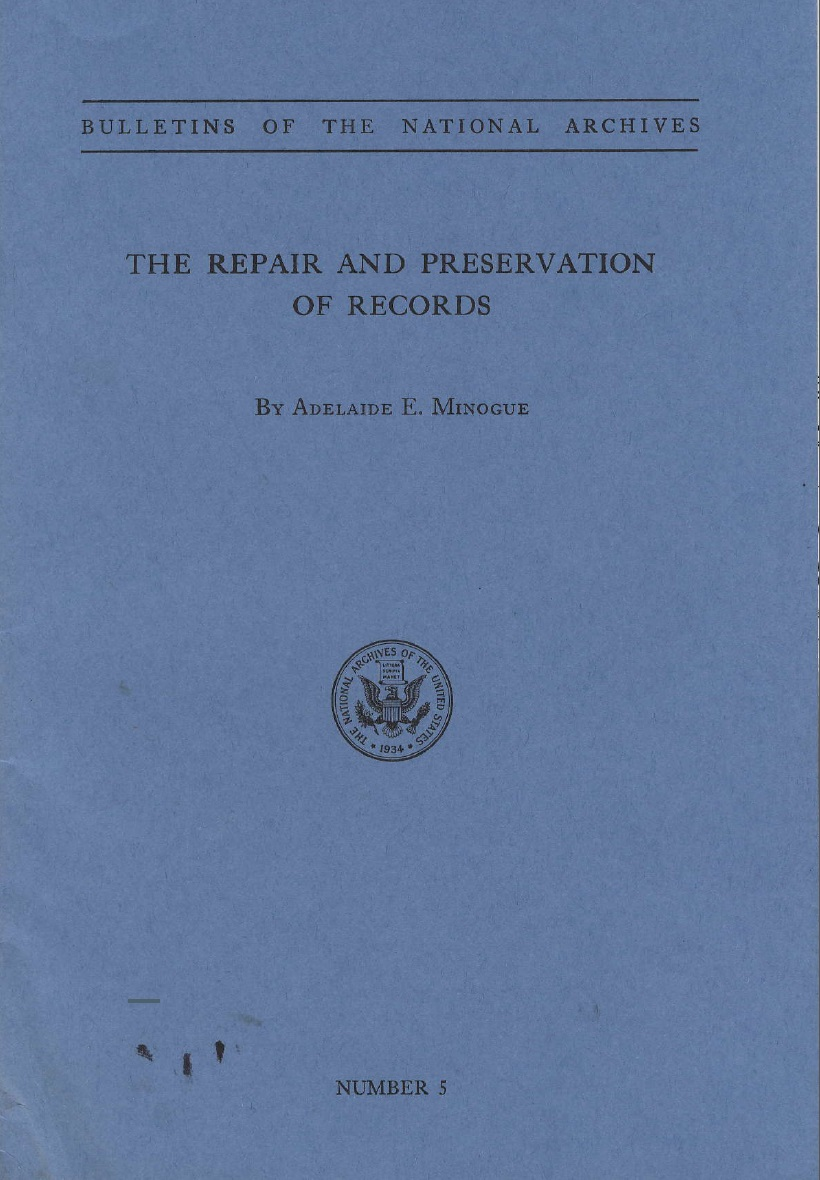 Cover of Bulletin No. 5, Repair and Preservation of Records