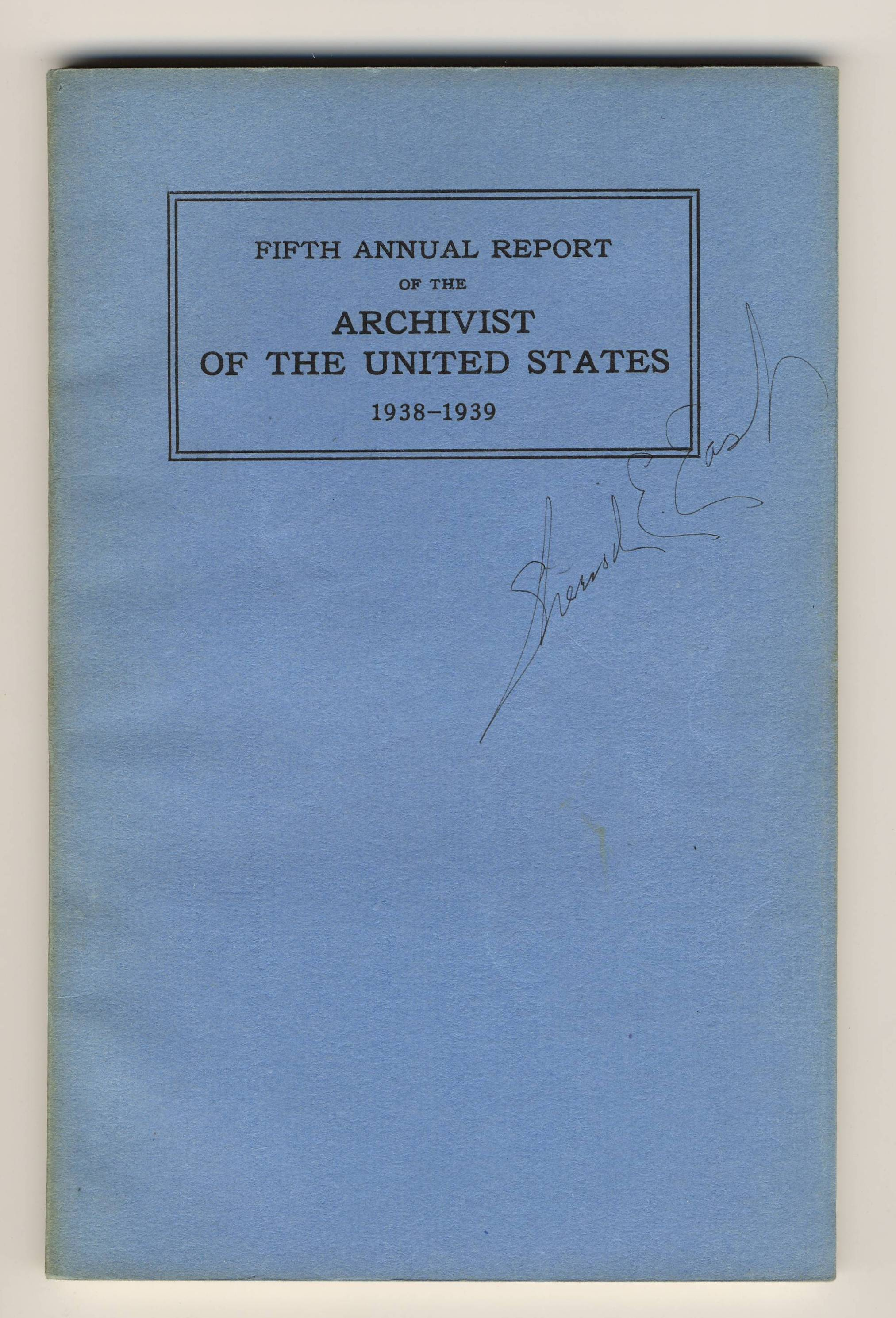 Annual Report 1938-1939 - cover