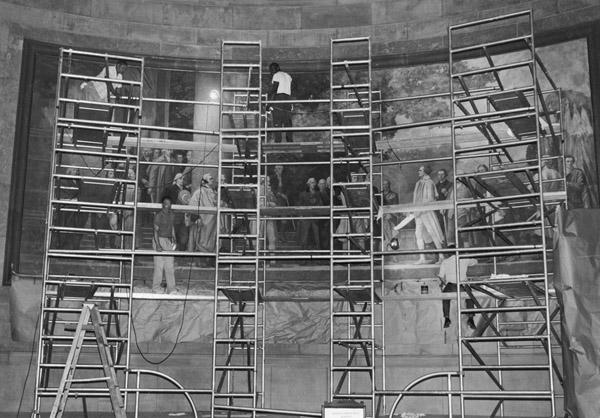 1970s mural restoration photo