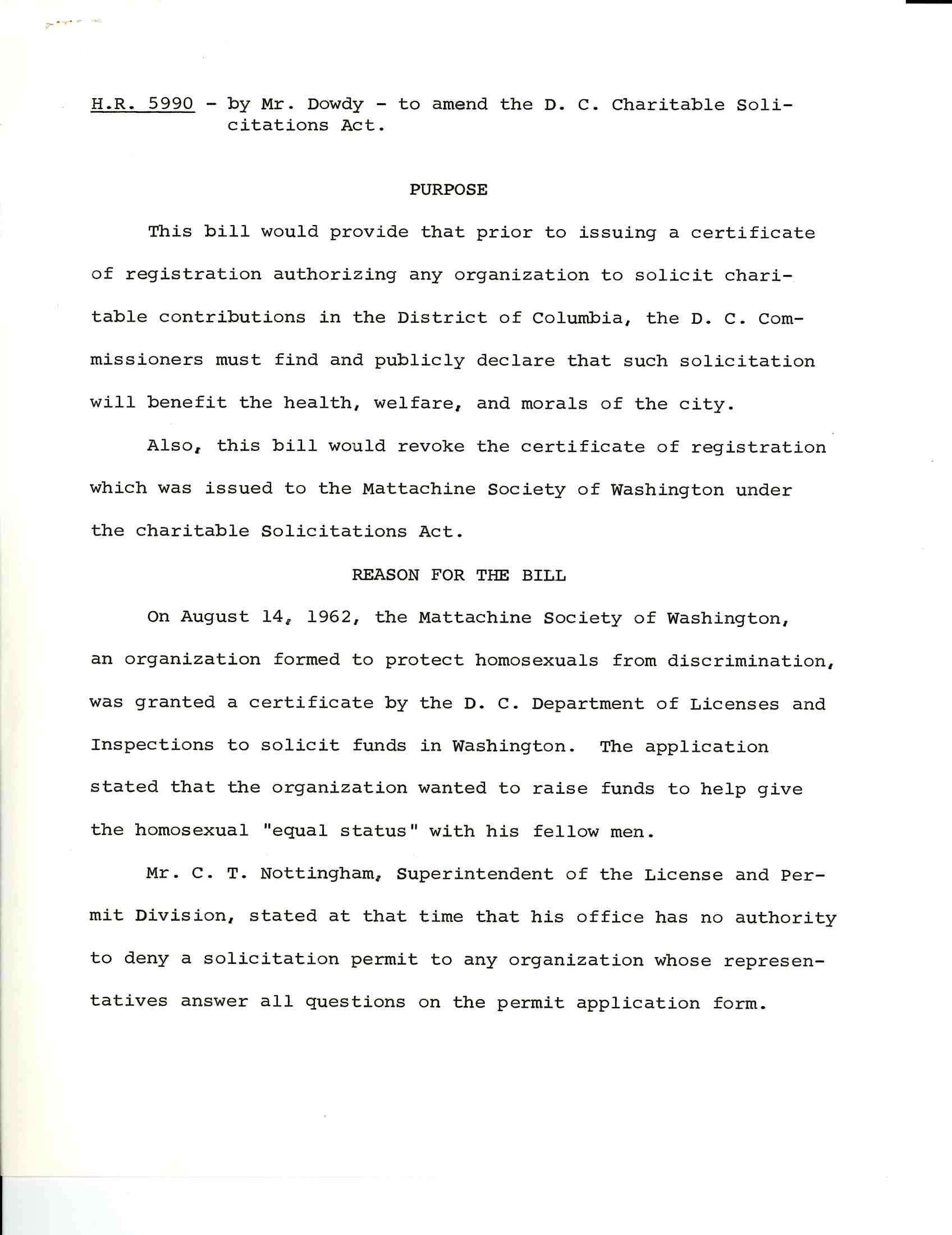 Dowdy Proposal, 88, RG233 H Comm on D.C., Legislative Files, Folder 4 of HR 5990 Bill File, 9E2-2-1-4
