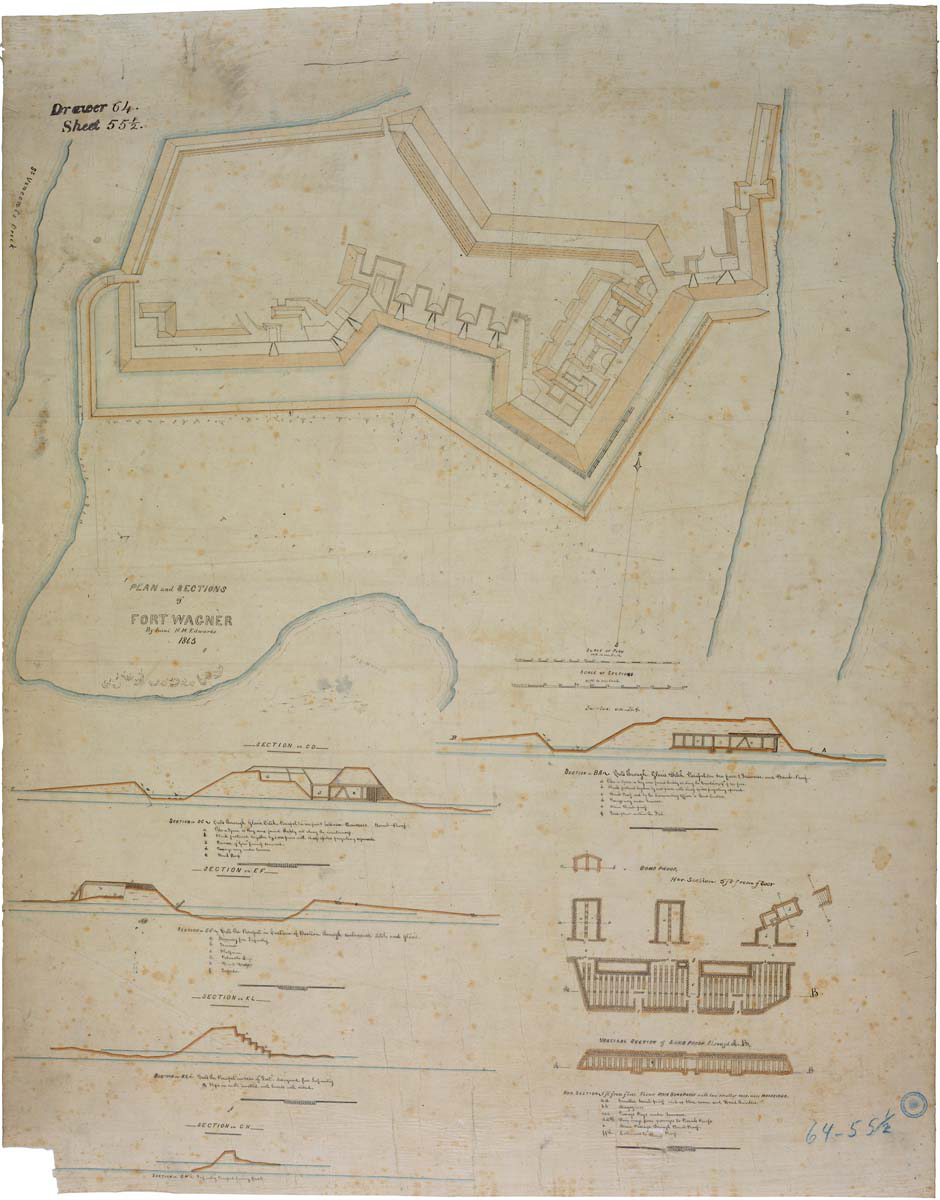 plans and sections of Fort Wagner07199_2003_001