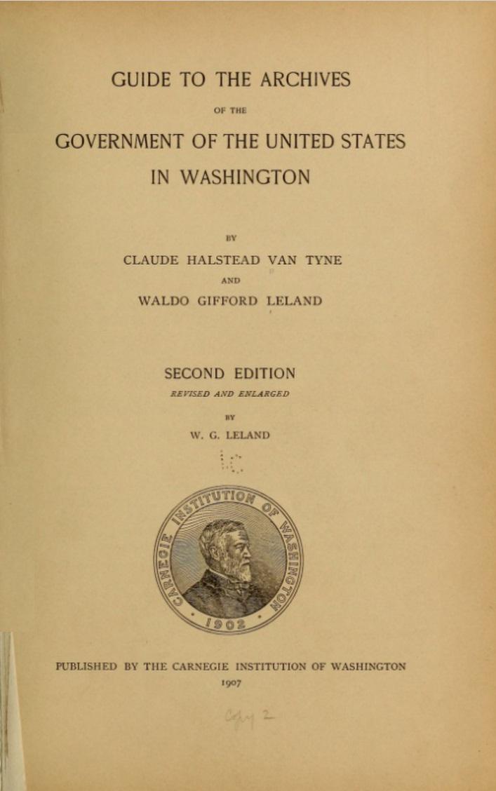 1907 van Tyne-Leland Guide - Title Page