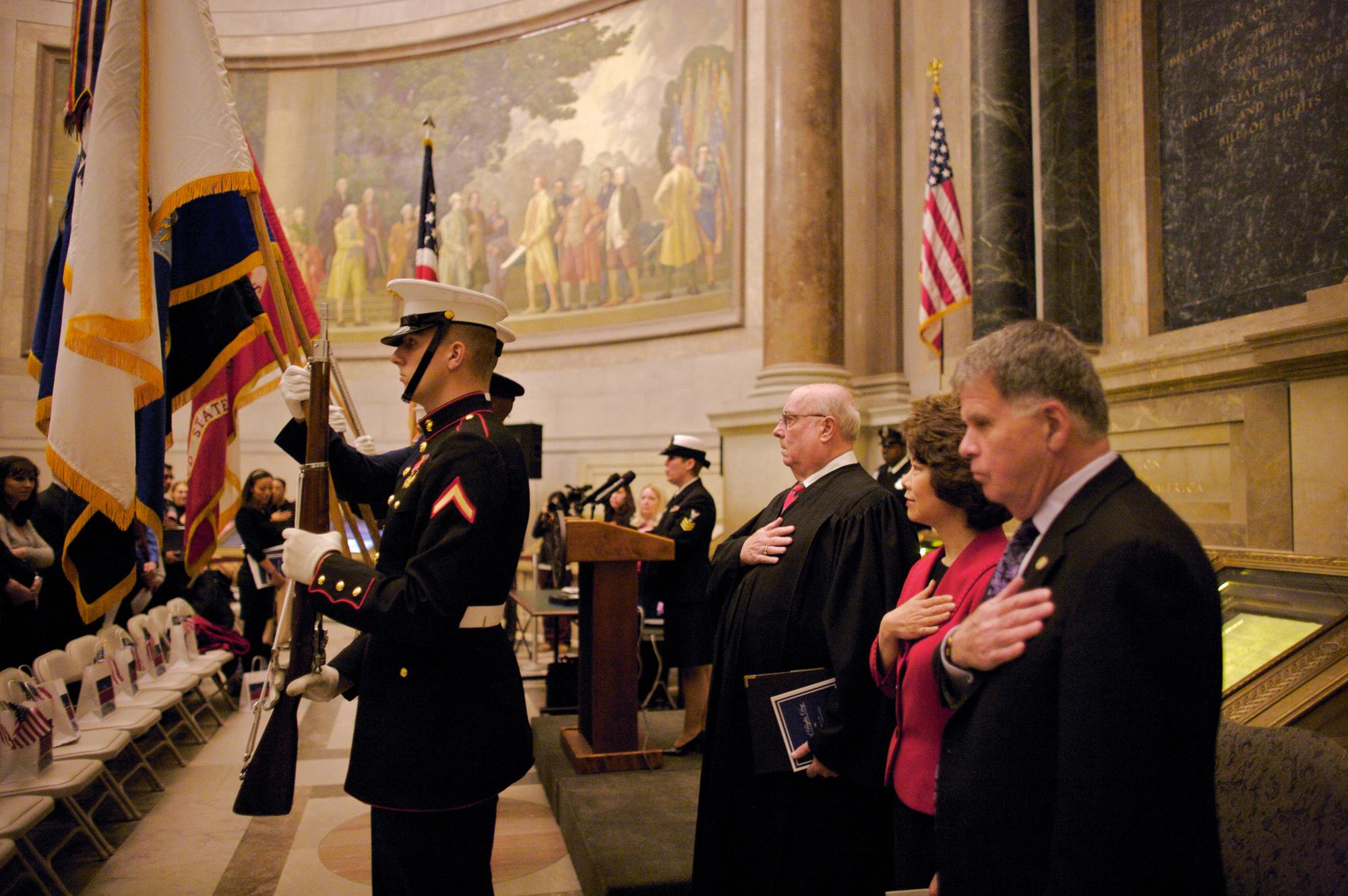 Naturalization Ceremony 2010. Archivist of the United States David S. Ferriero.