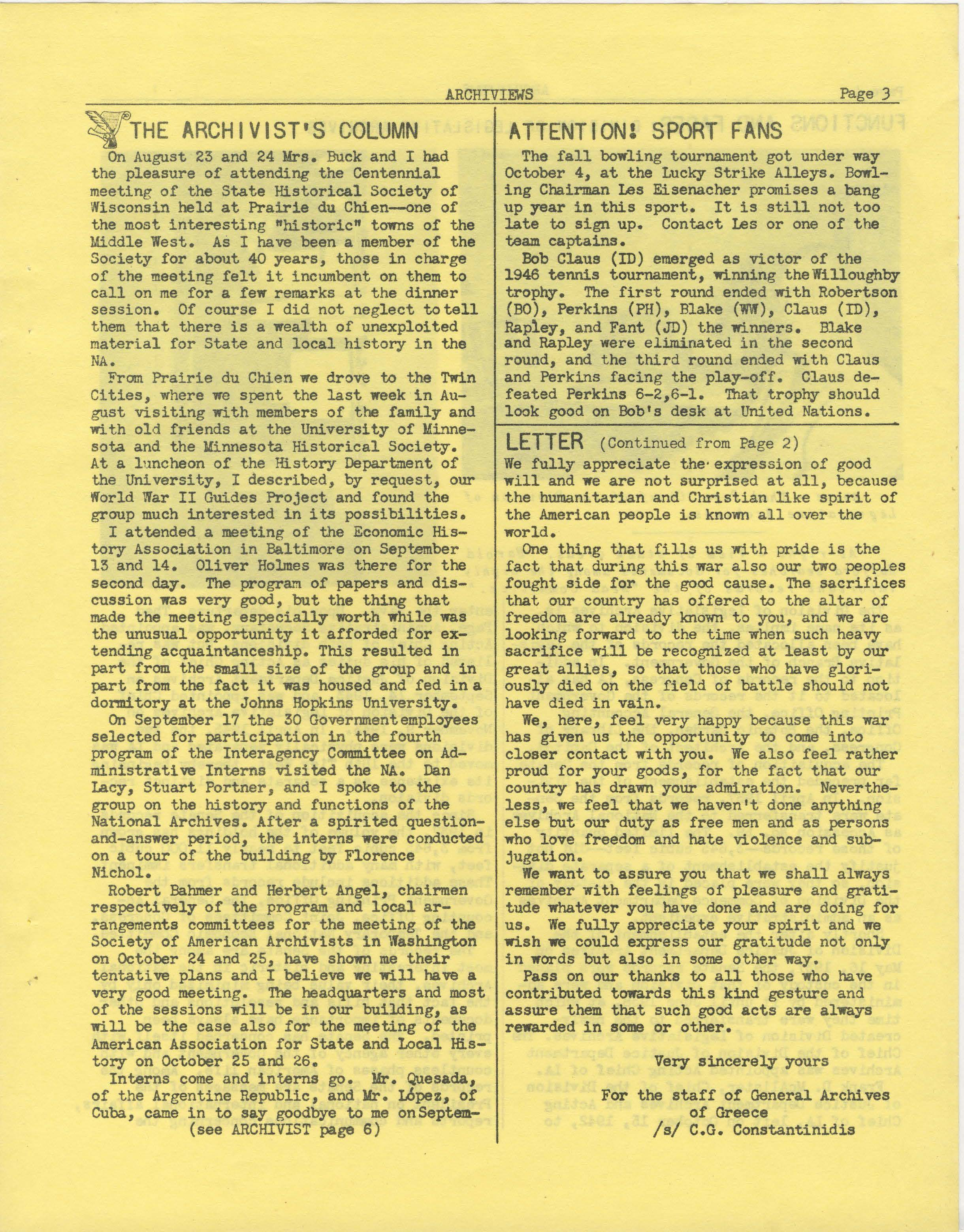 Pages from Archiviews, 1946 - 10
